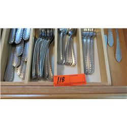 Tray of Matching Silverware - Forks, Knives, Spoons