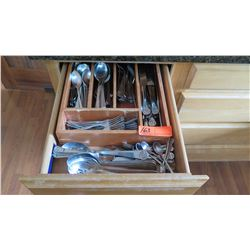 Entire Drawer of Misc. Flatware - Spoons, Knives, Forks (Fern Logo Pattern)