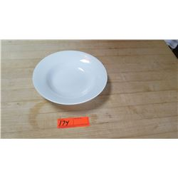 White Round Flat Salad Bowls - Approx. 32