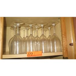 Qty 12 Acrylic Wine Glasses