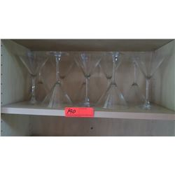 Qty 10 Martini Glasses