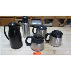 Qty 5 Thermal Carafes (Various Sizes)