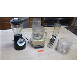 Oster Blender, Cuisinart Food Processor & Accessories