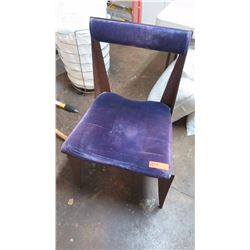 "Lacquered ""Rusted"" Steel-Frame Chair - Purple Velvet Cushion (intentionally rusted w/glaze overlay)"