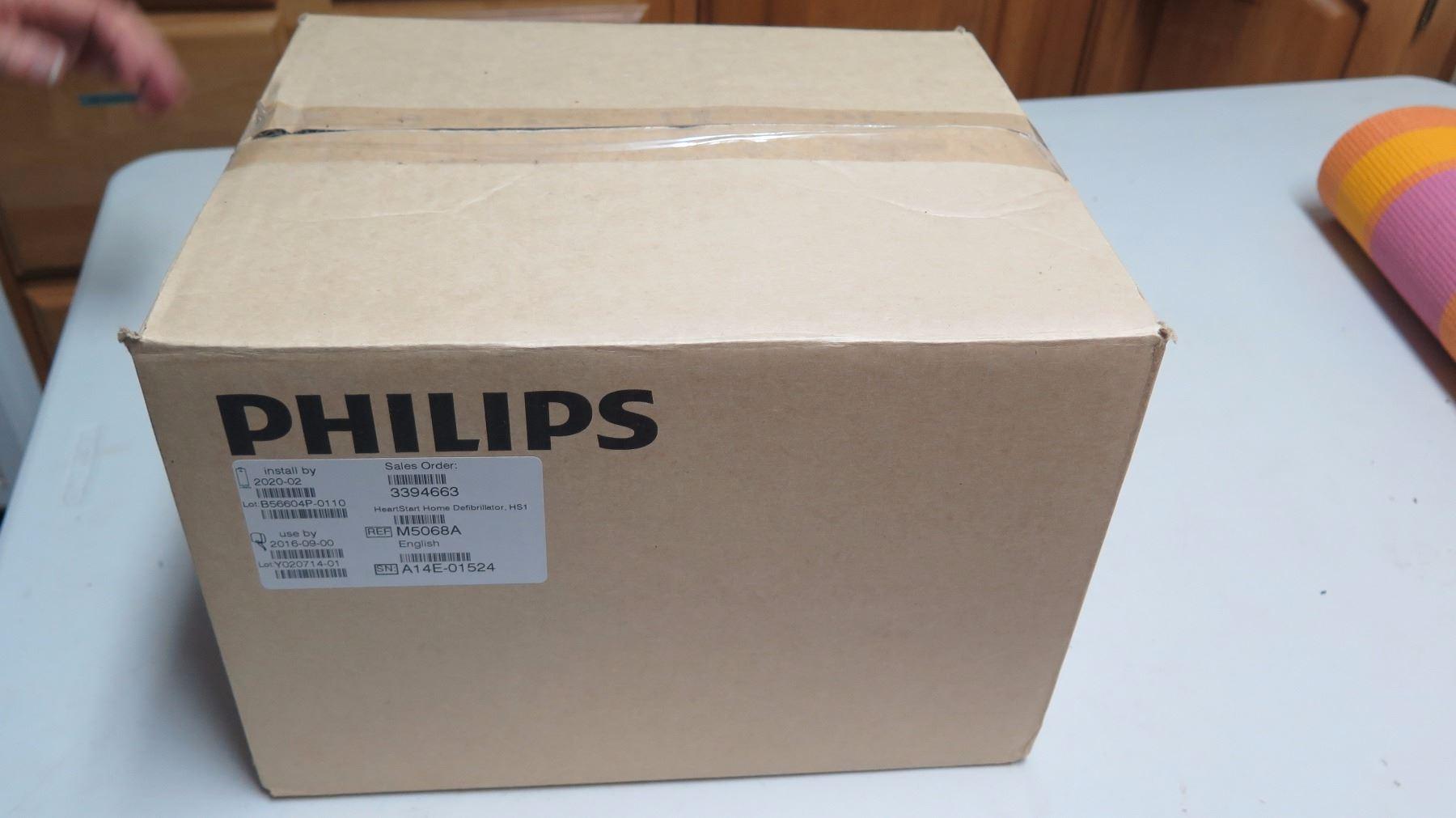 Unused Philips Heartstart Defibrillator, Includes Battery