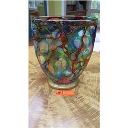 Large Murano Glass Vase - Multicolored, Jewel Tones