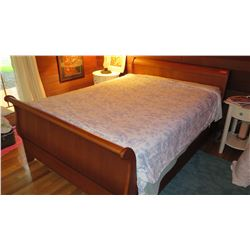 Queen Size Bed - Wood Frame (Mattress & Box Spring NOT INCLUDED)