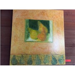 Original Coated Pastel - Still Life, Pears 32X31 - Bought at Auction for Kahilu Theater