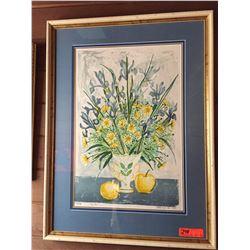 "Framed Print - ""Lys Bleu"" 25X34, Signed So'cuela? (Ltd.  Ed. #20 of 90)"