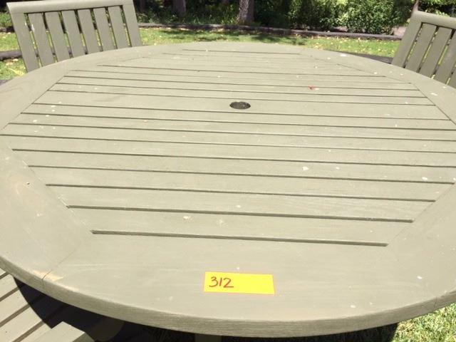 Fine Teak Outdoor Table 4 Chairs Dia 50 H 28 Chairs W Interior Design Ideas Skatsoteloinfo
