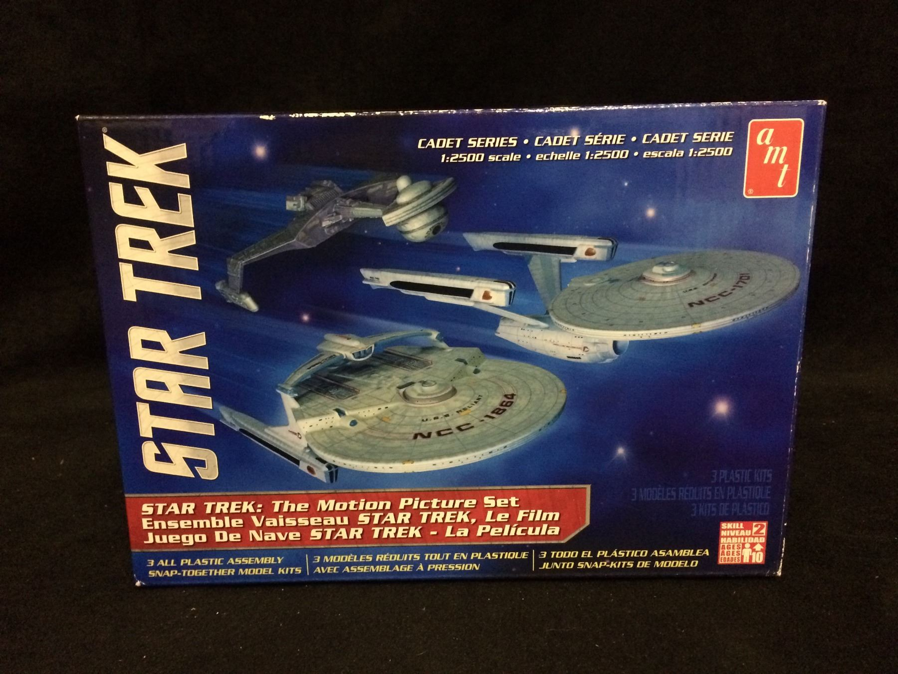 Star Trek Cadet Series The Motion Picture 3 models skill 2 AMT
