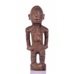 African Nkisi Wood Statue, Congo. Provenance: Ethn