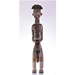 Large African Igbo Wood Power Figure, Nigeria. Car