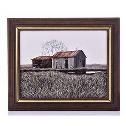 """Herbert Weintraub, American (XX) """"The Barn"""""""