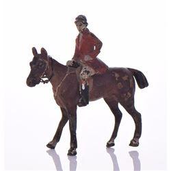 Antique Britain Fox Hunt Lead/Metal Equestrian Hor
