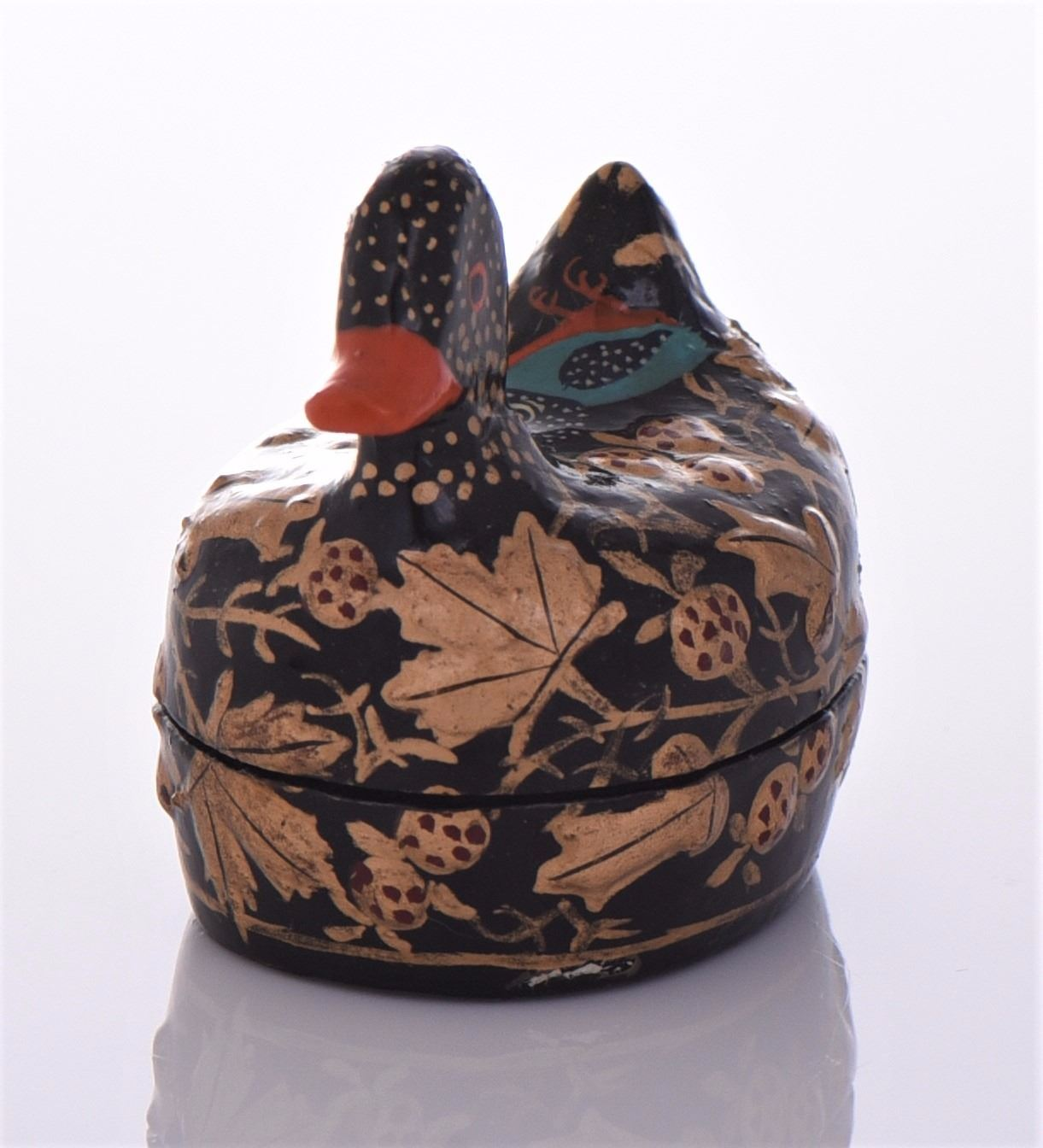 Pleasant Vintage Kashmir Lacquer Paper Mache Box Of A Duck Gmtry Best Dining Table And Chair Ideas Images Gmtryco