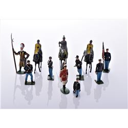 Eleven English Lead Figures Military And Medieval
