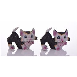 Two Porcelain Occupied Japan Cats. Estimated more