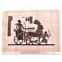 """""""Chariot of The Pharoah"""" Egyptian Papyrus With COA"""