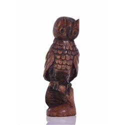 Wood Carved Owl Folk Art. Estimated more than 50 y