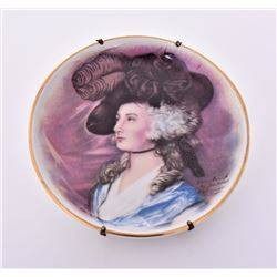 Porcelain Collectors Plate painted by Jon Peters A