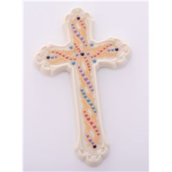 Vintage Lenox Porcelain Jeweled Cross. Estimated m