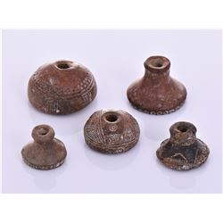 Five Pre-Columbian Artifacts. Estimated more than