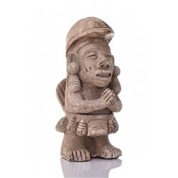 Pre-Columbian Reproduction Of A Praying Mayan Warr