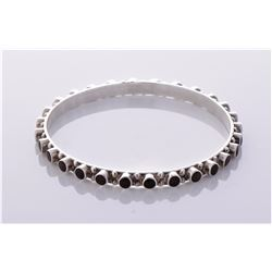 Tiger eye studded sterling silver bracelet. Estima