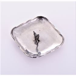 Sterling Silver Llama dish with multiple stamps ma