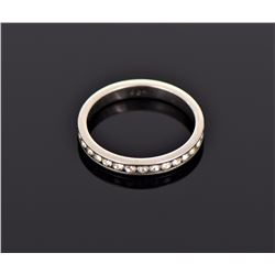 CZ Diamond Sterling Silver Wedding Ban. Ring Size