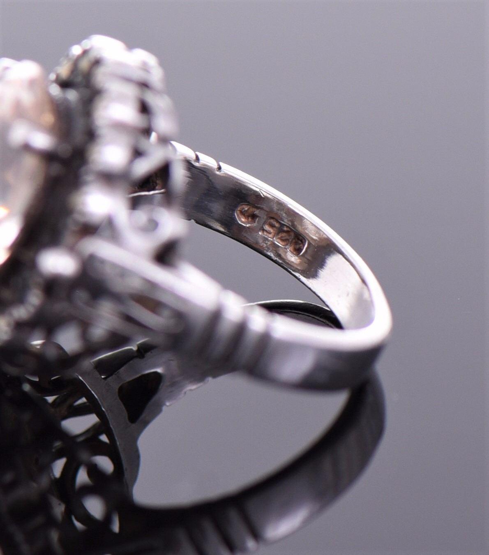 Vintage Morganite Sterling Silver Ring  Silver Tes