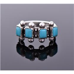 Navajo Sleeping Beauty Blue Turquoise Sterling Sil