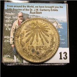 1922 Mexico Silver Peso, VF.
