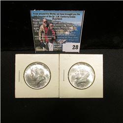 (2) 1964 P Kennedy Silver Half Dollars, Gem BU.