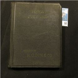 """Iowa July, 1929 The Mercantile Agency Reference Book (and Key) With a list of Banks and Bankers, St"