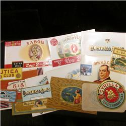 (15) Different Cigar Box & Tobacco Labels, all very colorful.