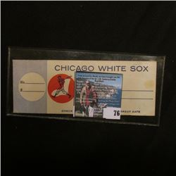 1960 Chicago White Sox Comiskey Park Ticket.