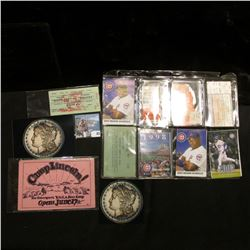 "Pair of Photographs of a spectacular 1889 Proof Silver Dollar; ""Benefit Game For Pasadena Baseball S"