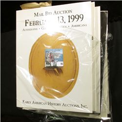 (6) Different large format Color Catalogs of Early American Memorabilia dating 1999-2001.