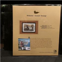 2004 Arizona $7.50 Waterfowl Stamp in mint, unused Pristine condition in a neat plastic page with li