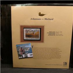 2004 Arkansas $7.00 Waterfowl Stamp in mint, unused Pristine condition in a neat plastic page with l