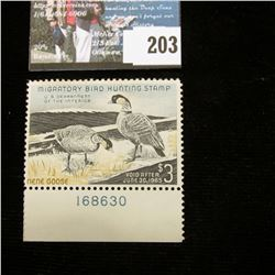 1964 RW31 U.S. Department of the Interior Migratory Bird Hunting Stamp, Pane number single, original