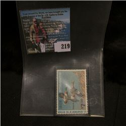 1980 RW47 U.S. Department of the Interior Migratory Bird Hunting Stamp, original gum, unused, VF, NH