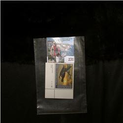 2002 RW69 U.S. Department of the Interior Migratory Bird Hunting $15.00  UL Pane Number single Stamp