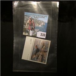 2004 RW71 U.S. Department of the Interior Migratory Bird Hunting $15.00  Pane Number single Stamp, o