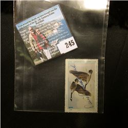 1975 No. 4 Iowa Migratory Waterfowl Stamp State Conservation Commission, signed by the original owne