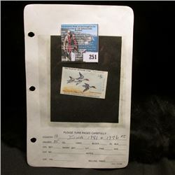 1981 No. 10 Iowa Migratory Waterfowl Stamp State Conservation Commission, lightly signed, damaged.