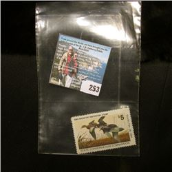 1983 No.12 Iowa Migratory Waterfowl Stamp State Conservation Commission, signed by the original owne