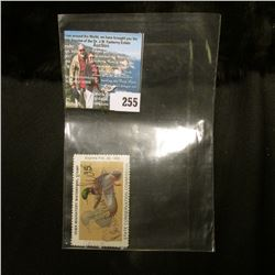 1985 No.14 Iowa Migratory Waterfowl Stamp State Conservation Commission, signed by the original owne